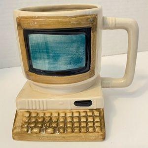 Vintage Desktop Computer Ceramic Pen holder 1992